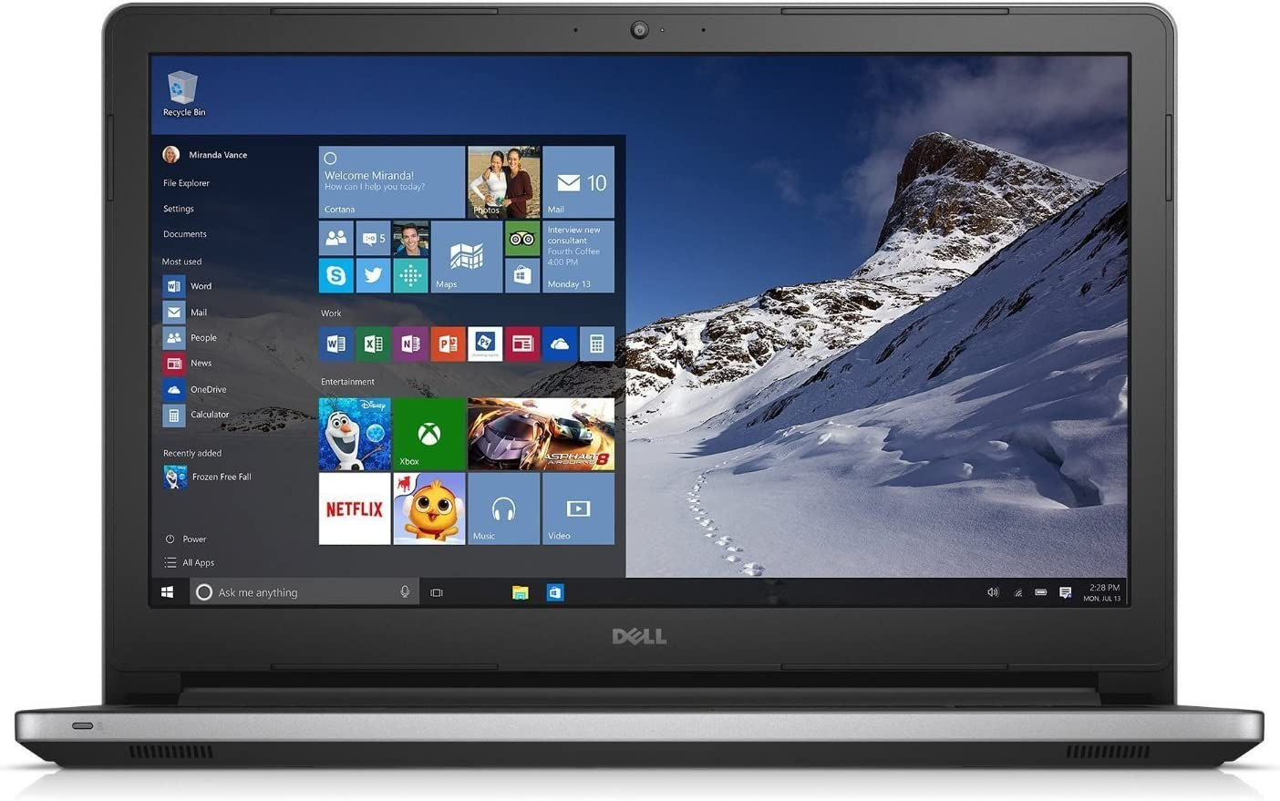 Dell Inspiron 15 i5558 Non-Touch Laptop (i5-4210U/ 8G/ 1TB) Windows 10