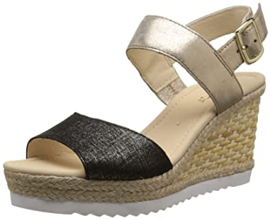 Gabor Shoes 45.790 Damen Durchgängies Plateau Sandalen, Mehrfarbig (37  schwarz space), e575e0ec93