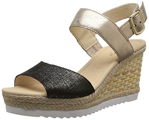 Gabor Women's Open Toe Sandals, multicolored (37 Schwarz/Space), 4.5 UK