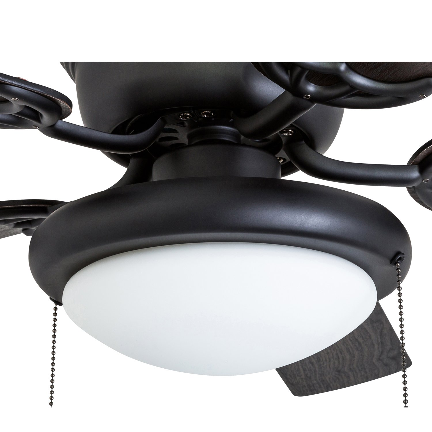Portage Bay 50251 Hugger 52'' Matte Black West Hill Ceiling Fan with Bowl Light Kit by Portage Bay (Image #4)