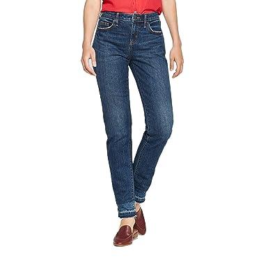 bdd957e0e51 Universal Thread Women's Mid-Rise Boyfriend Jeans Dark Wash, Blue (2/26R