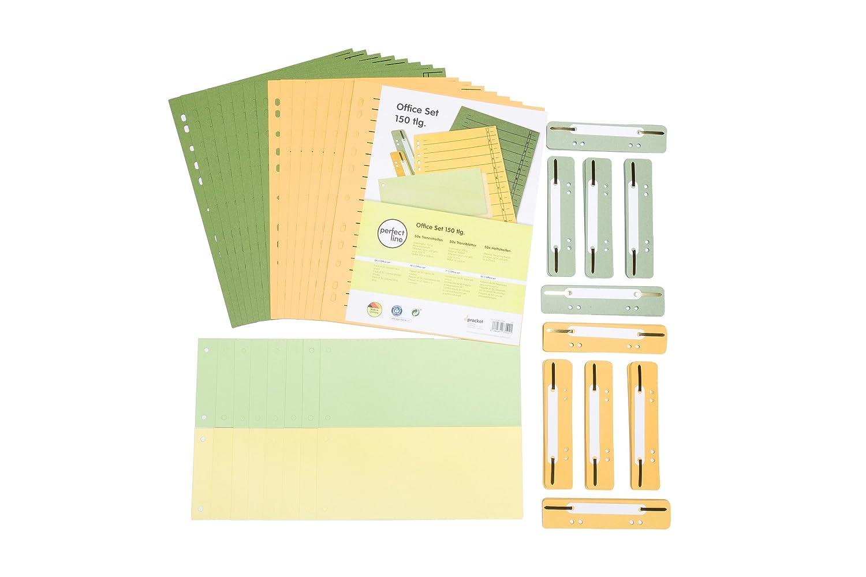 perfect line Set di organizzazione per ufficio composto da 150 parti, 50 strisce di separazione, 50 strisce per quaderni, 50 fogli di separazione, 2 colori procket