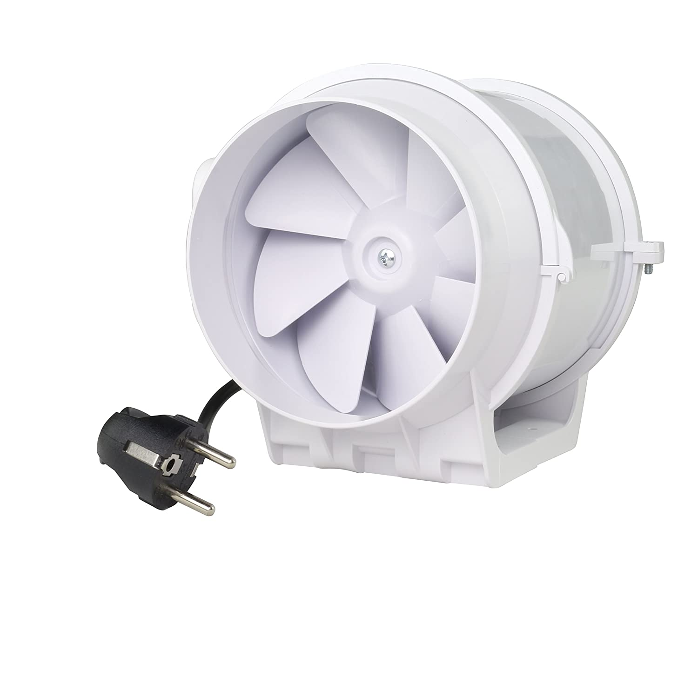 Rohrventilator Rohrlüfter Zusatzlüfter 100 mm Durchmesser Absaug Ansaug Gebläse Industrie Zuluft Abluft Ventilation 2 Stufen LABT