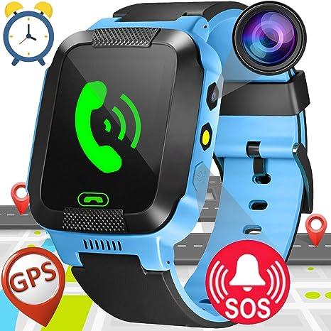 Smartwatch Niños,GPS Tracker Smartwatch Inteligente Relojes para Niños Niñas con cámara de Podómetro con