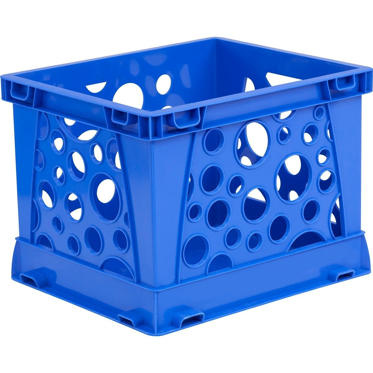 Storex Large Storage and Transport File Crate Green STX61556U01C 17.25 x 14.25 x 10.5 Inches