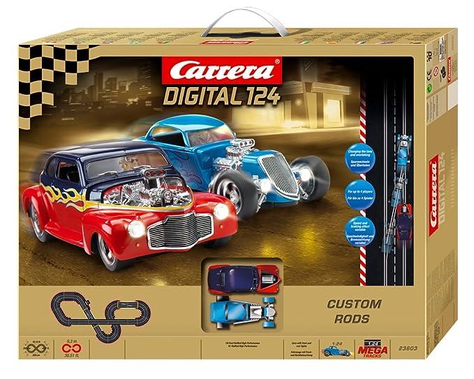 Amazon com: Carrera Digital 124 Custom Rods Slot Car Set