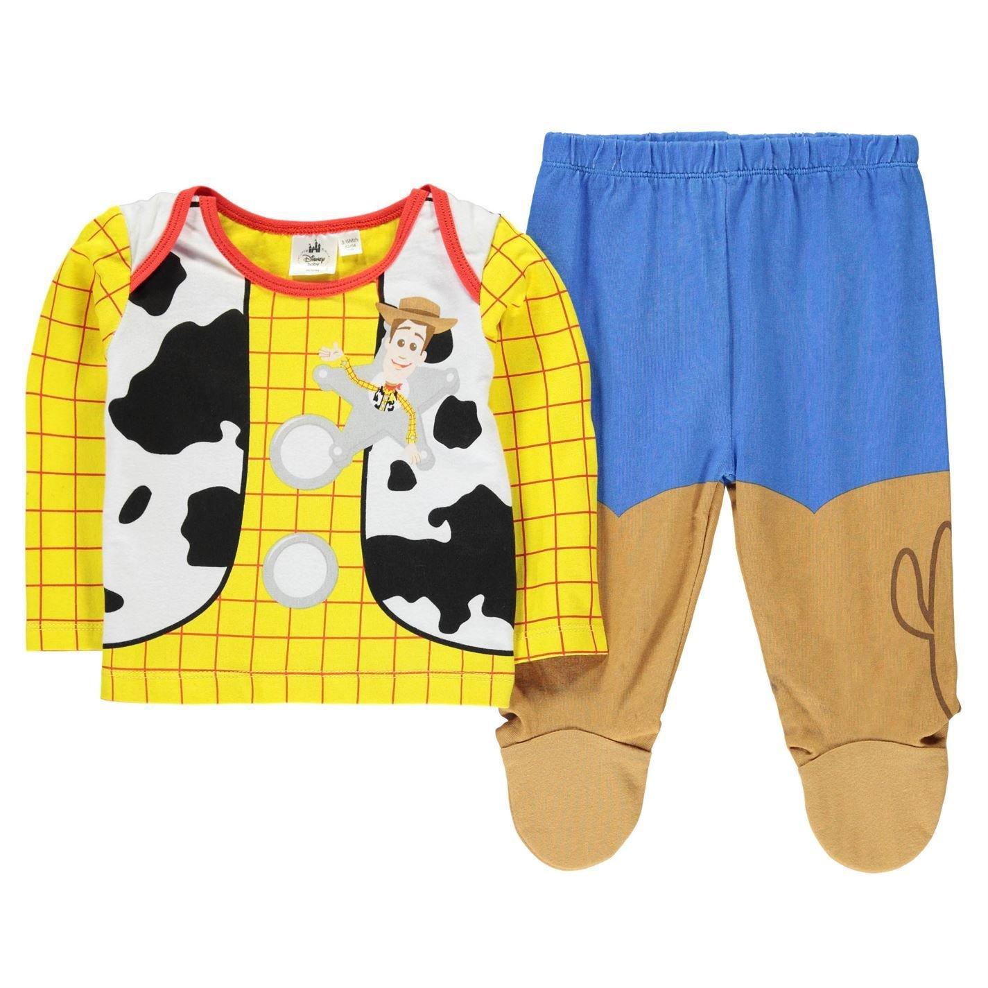 Disney Toy Story Woody 2 Piece Pyjama Set Infant Baby Blue/Yel Pajama Sleepwear