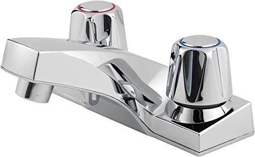 Pfister G1435000 Pfirst Series 2-Handle 4 Inch Centerset Bathroom Faucet in Polished Chrome, Non-Water Efficient Model
