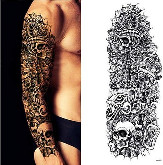 3pcs-Brazo Completo Tatuaje Temporal Manga Pavo Real peonía Faucet ...