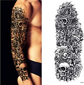 Brazo completo tatuaje manga pavo real peonía grifo hueso diseño ...