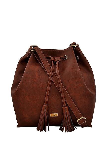 d0c91649a8b Yelloe Tan Handbag For Women SA6H9037I  Amazon.in  Shoes   Handbags
