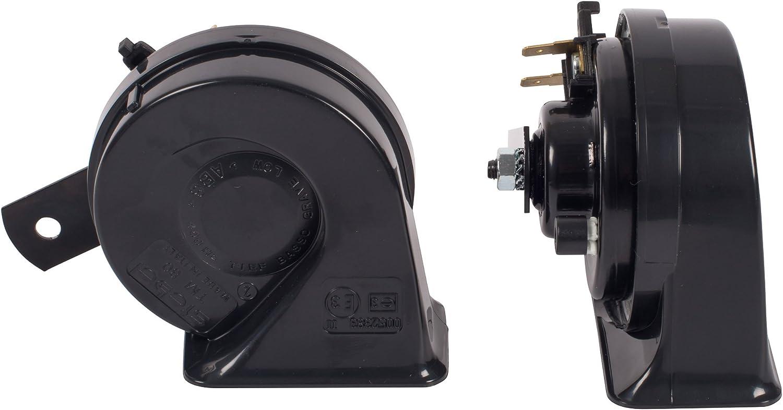 Stebel Tm80 2 B All In Black 12v Elektromagnetisches Doppelhorn Auto