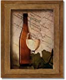 White Grapes Wine Glass and Bottle Kitchen Tuscan Wall Picture 8x10 Art Print