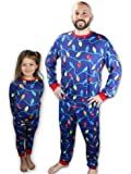 Knitpopshop Matching Family Christmas Lights Pajama Pjs Holiday Set, Kids, Adults, Womens, Mens Custom Red Blue Green