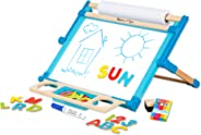 """Melissa & Doug Deluxe Double-Sided Tabletop Easel (Arts & Crafts, 42 Pieces, 17.5"""" H x 20.75"""" W x 2.75"""" L, Great Gift for Gir"""