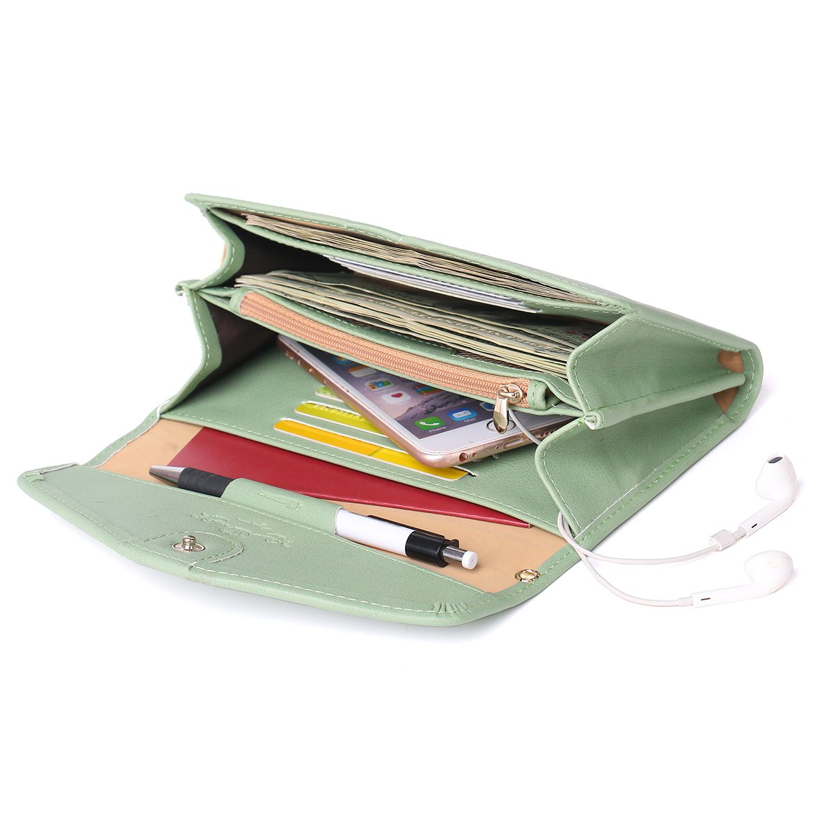 Zg Wristlets for Women, Cell Phone Clutch Wallet, Passport Wallet, All In One Purse Extra Capacity by Zg gift (Image #4)