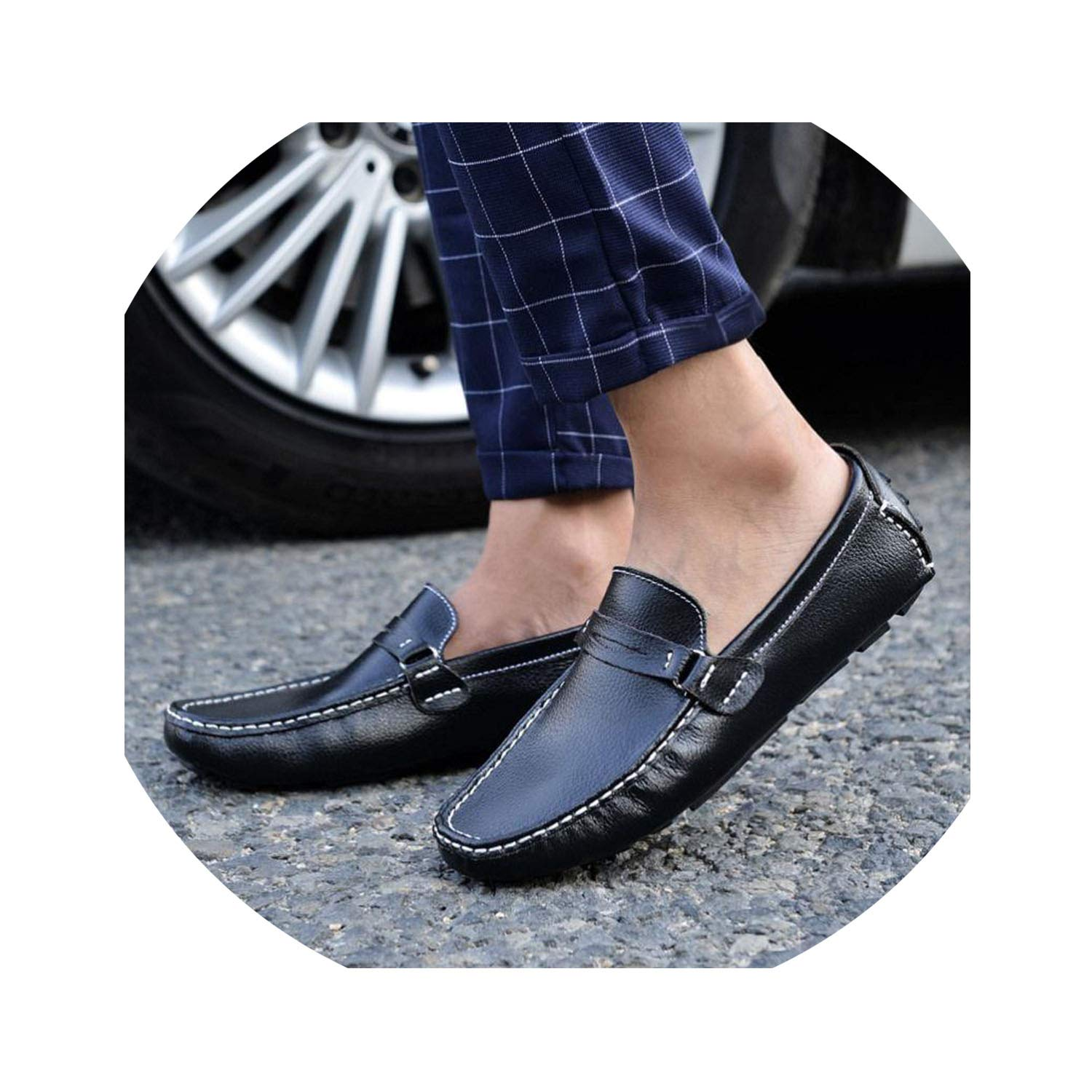 Amazon.com | floral hoop Shoes Men Genuine Leather Fashion Brand Mens Loafers Slip-On Driving Shoes Mens Moccasins Zapatos Hombre Casual Cuero | Loafers ...