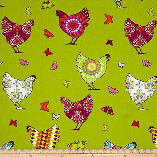 ON THE FARM CHICKEN /& HENS Linen Fabric Curtain Quilting Patchwork Cushion Bags