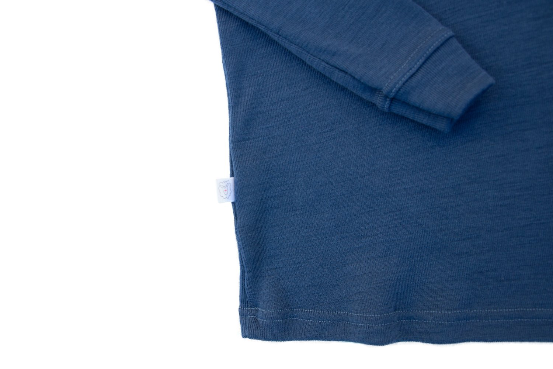 Pure Merino Wool Kids Thermal Top. Base layer Underwear Pajamas. BLUE 9-10 Yrs by Simply Merino (Image #9)