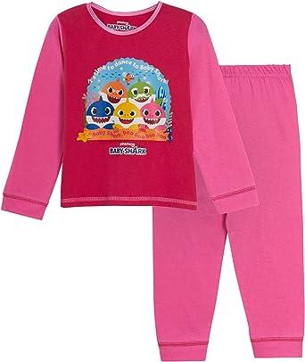 Pijama de tiburón para bebé y niñas y niños, diseño de personaje de longitud completa, juego de pijama de regalo