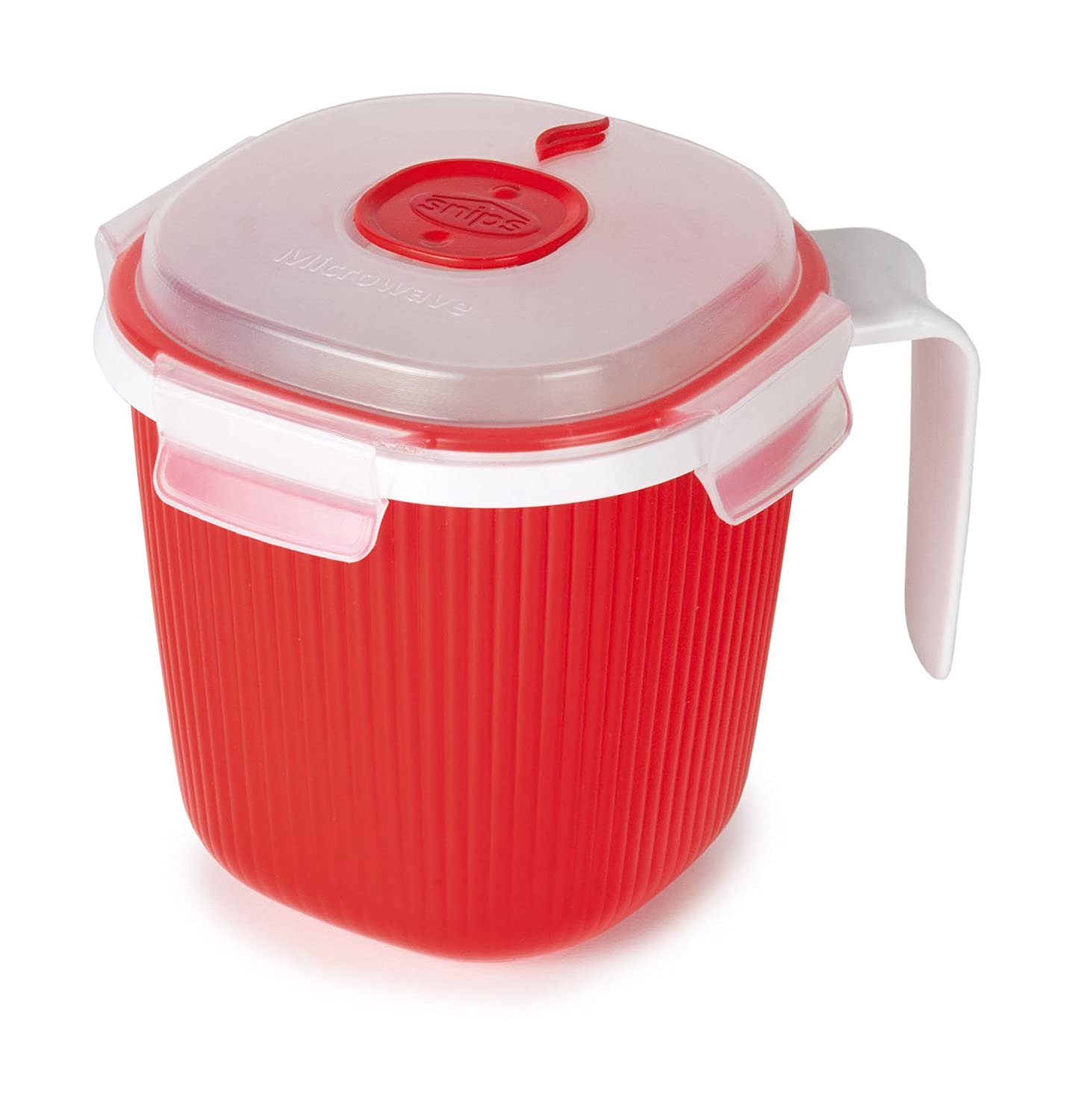 Snips 000704 Microwave Cookware Steamer, 135.2 Oz./16.9 Cups, Red