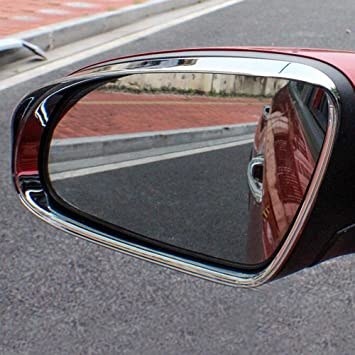 For Toyota Corolla 2014-2017 Stainless Rearview Door Mirror Cover Trim Strips