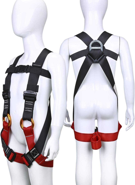 ENJOHOS Arnés de Escalada, arnés Arnés de Escalada, arnés guía, Cinturones de Seguridad para montañismo de Alto Nivel Espeleología de Rescate ...