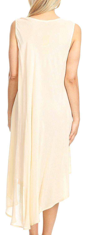 Sakkas 18122 - Vestido Caftan de Valentina Summer Casual Light Cover-up con Estampado Tropical - Azul - OS: Amazon.es: Ropa y accesorios