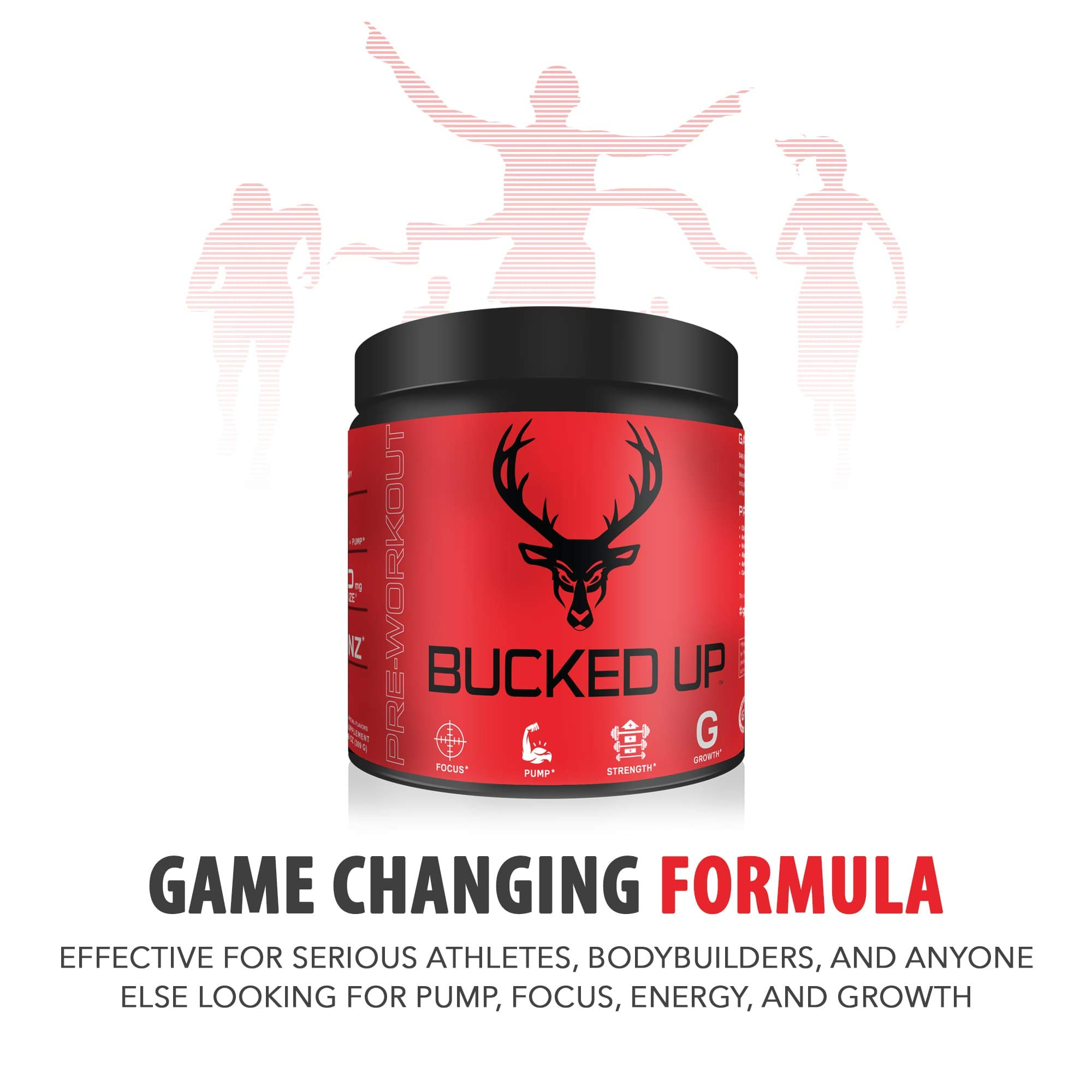 Bucked Up Pre Workout 6 Grams Citrulline, 2 Grams Beta Alanine, and 3 Other Registered trademarked Ingredients (Watermelon) by Bucked Up   (Image #2)