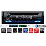 JVC Single-Din Built-in Bluetooth, Dual Phone Connection, Android Music Playback, CD MP3 AM/FM USB AUX Input Car Stereo Playe