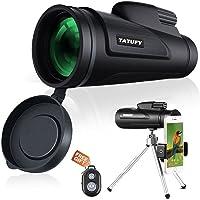 Tatufy 12x50 HD Dual Focus Low Night Vision Waterproof Monocular Telescope