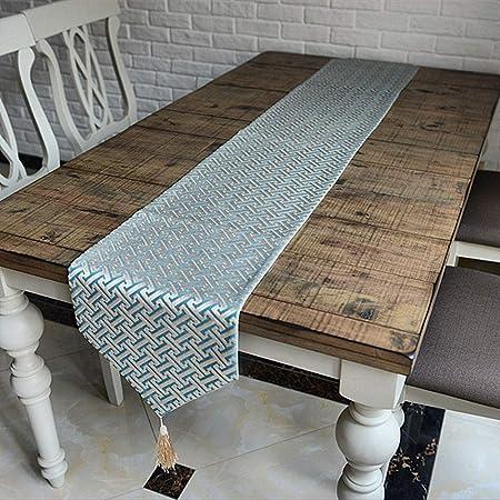 Kanqingqing Corredores de Mesa Mantel Simple decoración hogar ...