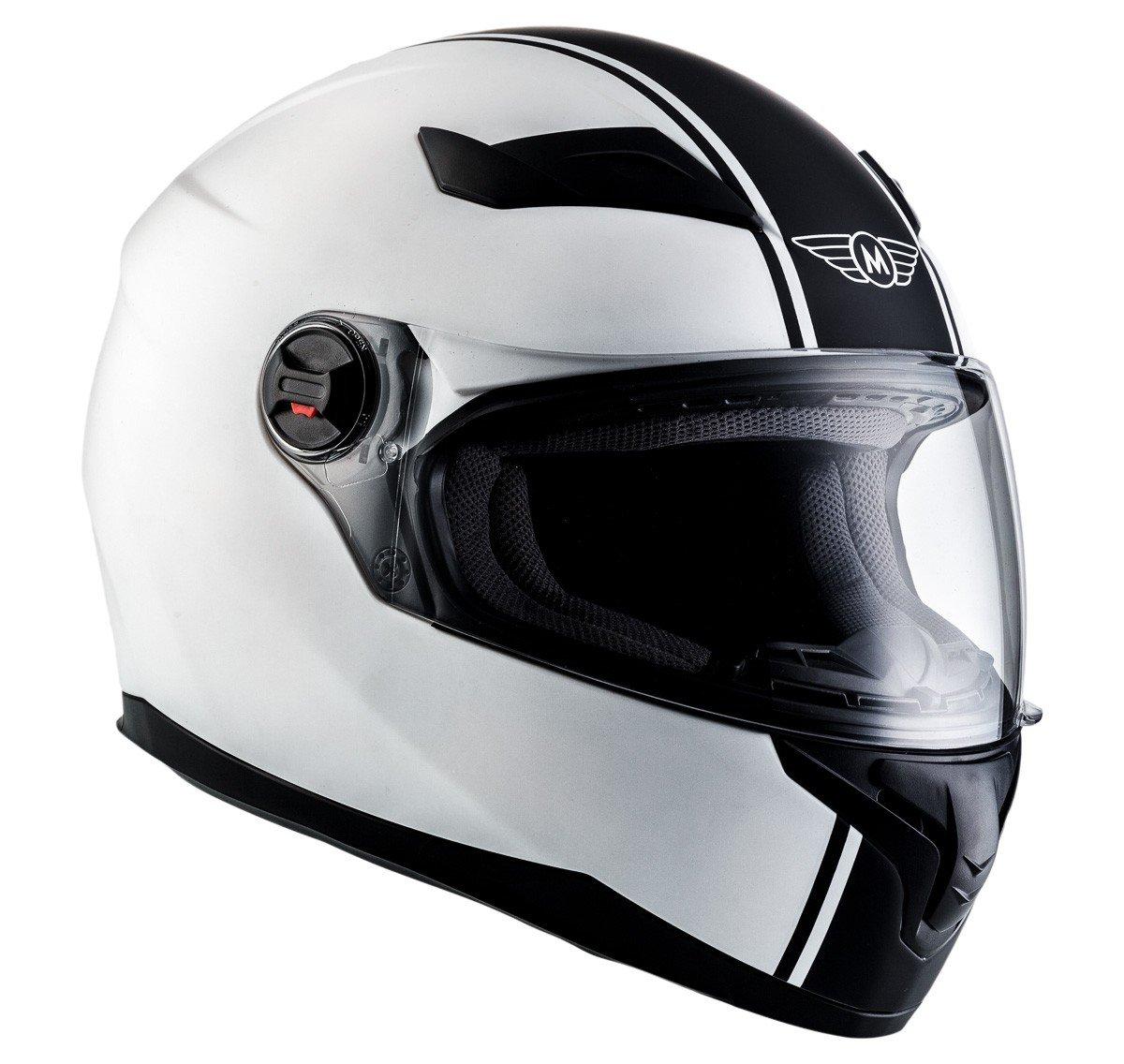 MOTO X86 Gloss Black /· Cruiser Casco Integrale Urban Urbano Moto motocicleta Fullface-Helmet Scooter Sport /· ECE certificado /· visera incluido /· incluyendo bolsa de casco /· Negro /· S 55-56cm