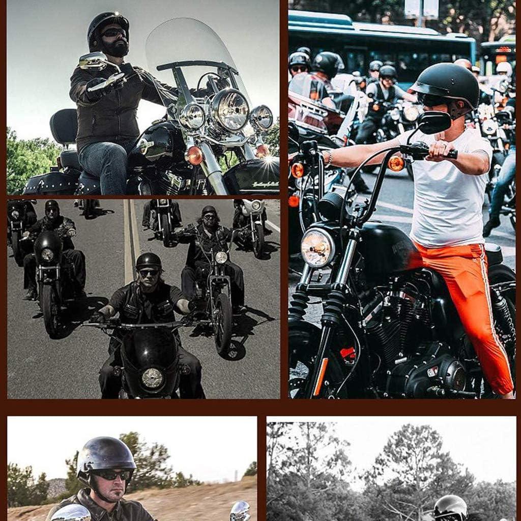 GAOZH Retro Moto Casque Bols,Vintage Braincap,Harley Jet Demi Coquille Casque,ECE Homologu/é pour Street Bike Vespa Scooter Bobber Pilote Cruiser cyclomoteur Chopper Biker Moped,avec Visi/ère