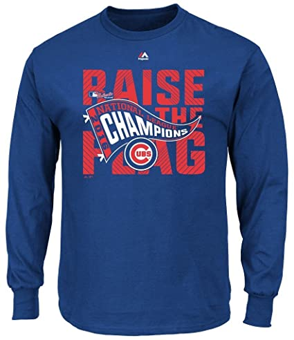 4aa47fa3 VF Chicago Cubs MLB Mens Majestic Long Sleeve 2016 National League Champions  Shirt Royal Blue Big