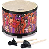 """Eastar Floor Tom Drum for Kids 10"""" Percussion Instruments with 2 Drum Sticks Educational Music Instrument Wood Drum Set…"""