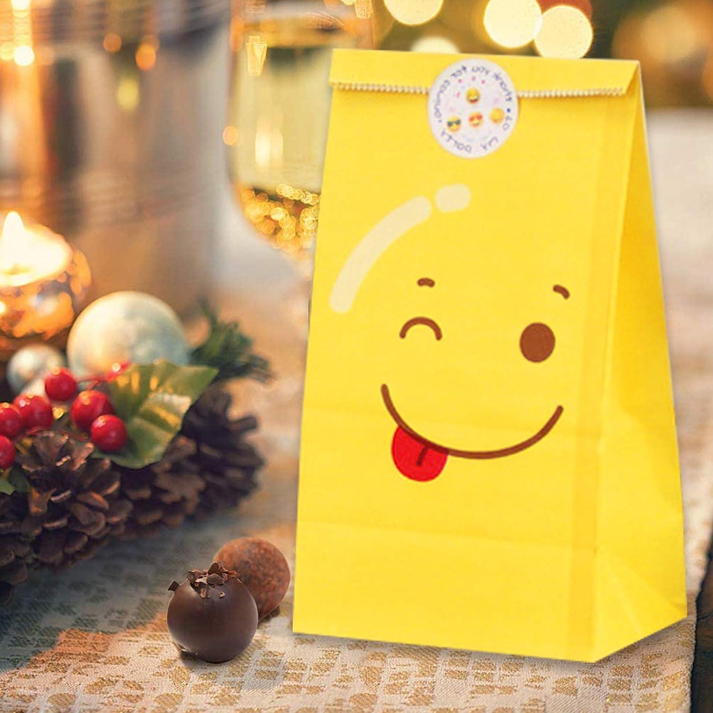 24 * No/ël Sunshine smile bo/îtes de No/ël en Papier,Sac Cadeau Noel Kraft,Sac Cadeau,Sacs en Papier,Sac Kraft Cadeau de No/ël Sacs,Bo/îtes de Cadeau de No/ël,Sac Papier Cadeau Recyclable