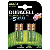 Duracell Recharge Ultra Piles Rechargeable type AAA 900  mAh, Lot de 4