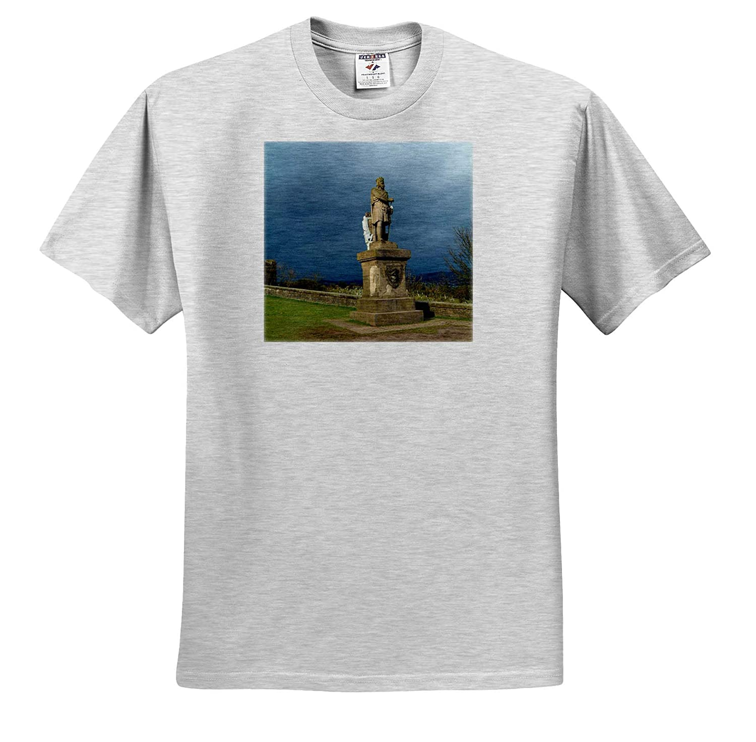 3dRose Jos Fauxtographee T-Shirts Scotland Robert The Bruce Rober The Bruce on The gorunds of The Stirling Castle