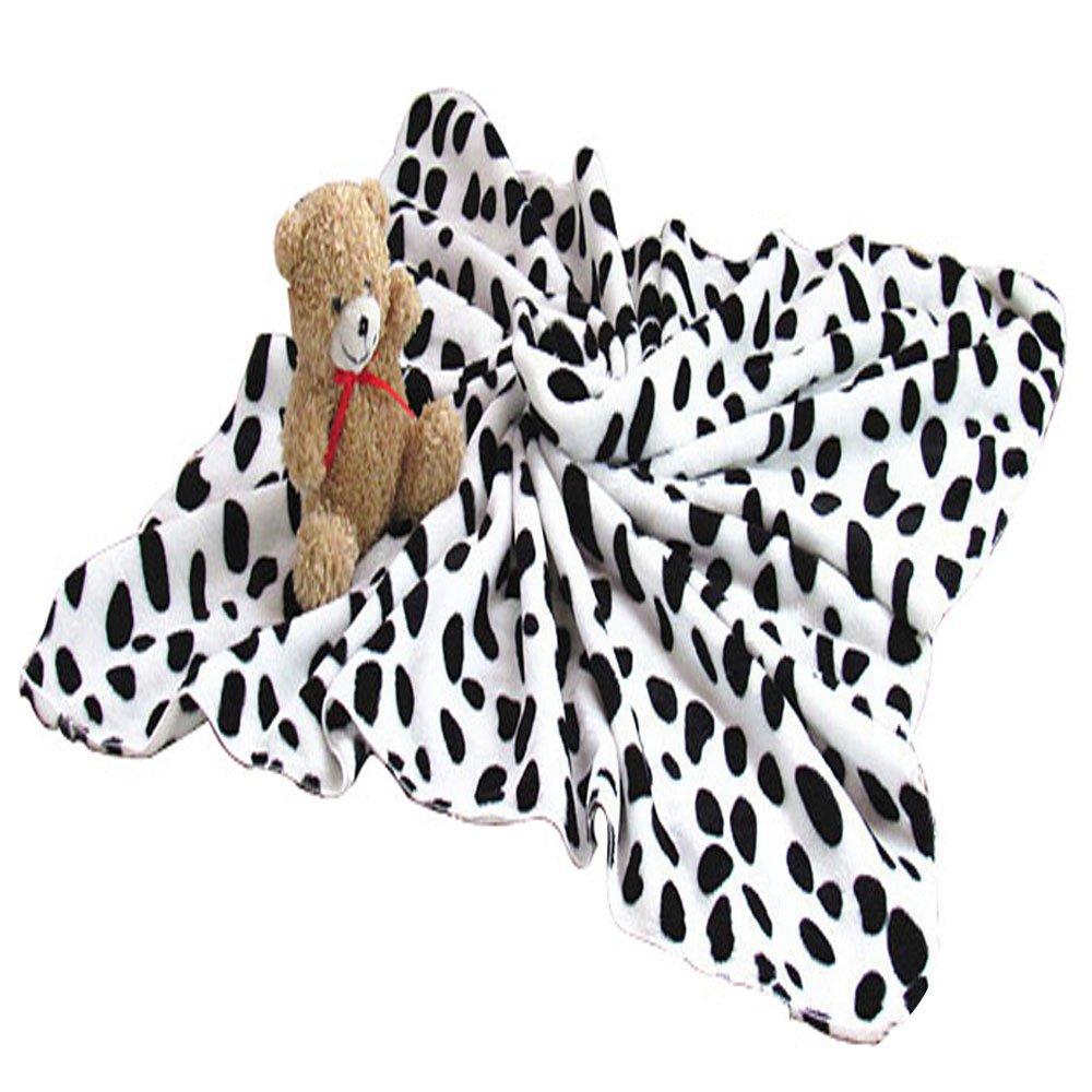 BalataHome Premium Large Pet Blankets 31.4x39.3 Inches Soft Black Spot Blanket for Dog Cat Puppy Kitten Animal Supplies