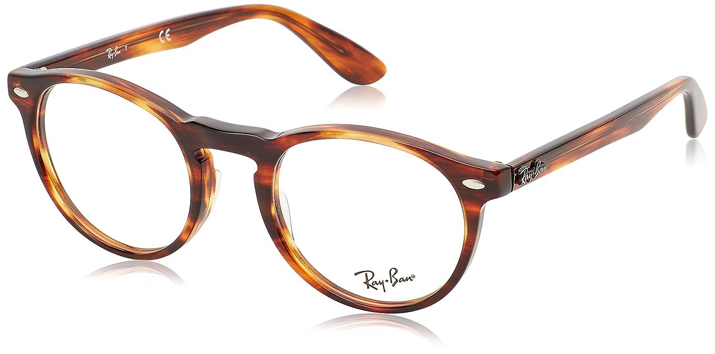 Ray-Ban 5283 Monturas de gafas, Striped Havana, 47 para Hombre