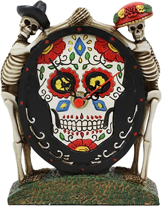 "Sugar Skull Statue 5/"" Figurine Day of the Dead Choose from 3 Colors"