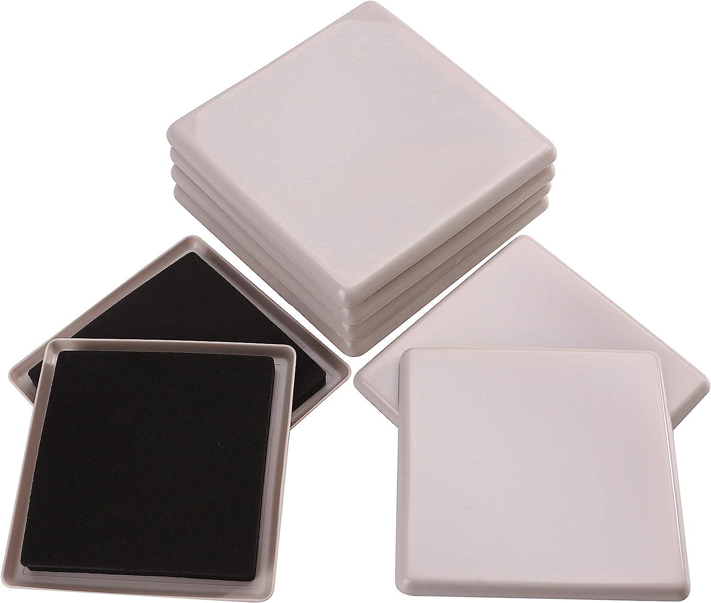 8pcs 5in.Square Reusable Carpet Slider-Furniture Slider-Furniture Moving Slider-Moving Pad-Sofa Glider-Furniture Glides-Furniture Mover