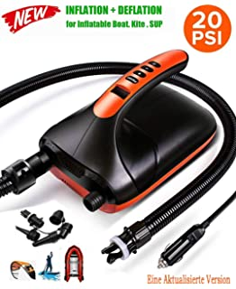 Amazon com : Portable 12V Electric Air Pump for Inflatable Boat