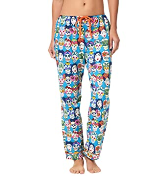 The Cats Pajamas Frida Kahlo Womens Cotton Pajama Pant X-Small