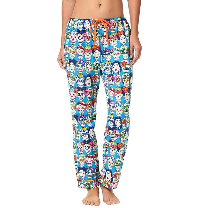 The Cat s Pajamas Frida Kahlo Pantalones de Pijama de algodón de Las Mujeres -