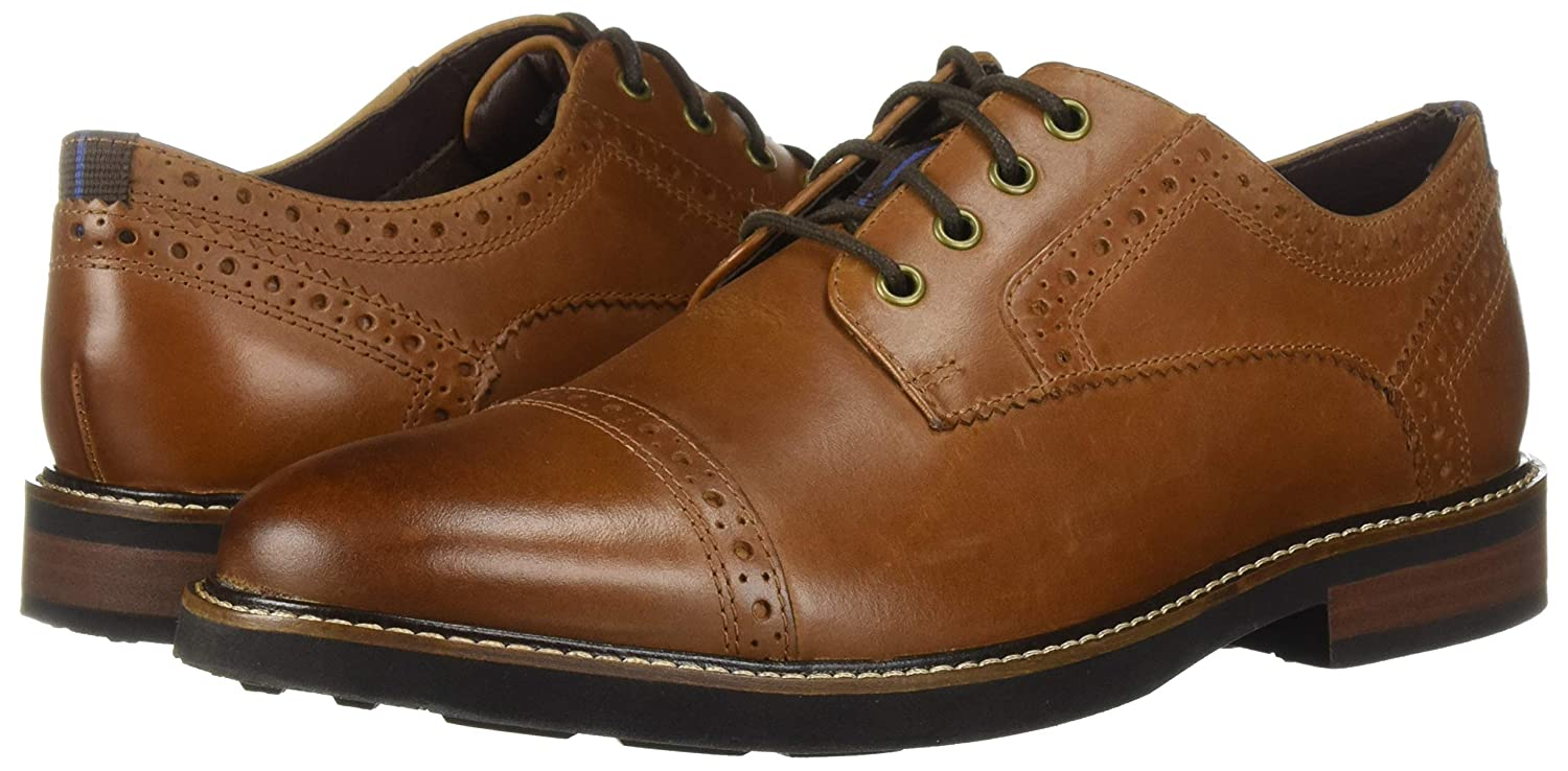 Nunn Bush Mens Overland Cap Toe Oxford Lace Up with KORE Technology 11 Medium US