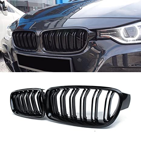 Front Grille Grilles Kidney Grille Replacement For Bmw 3 Series F30 F31 Abs Gloss Black