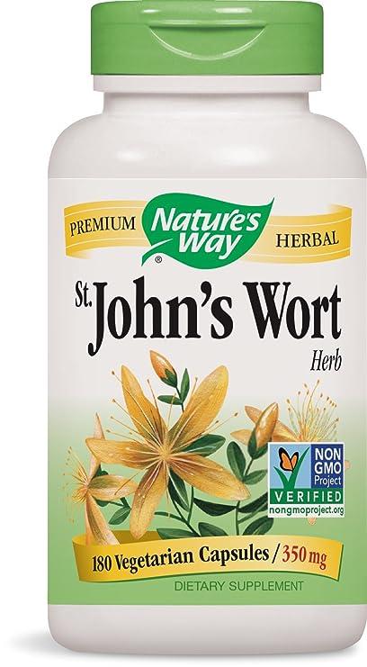 Nature\'s Way St. John\'s Wort, 350mg 180 Capsules: Amazon.ca: Health ...
