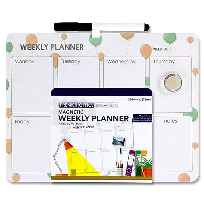 Premier Stationery - Planificador semanal magnético para limpieza ...